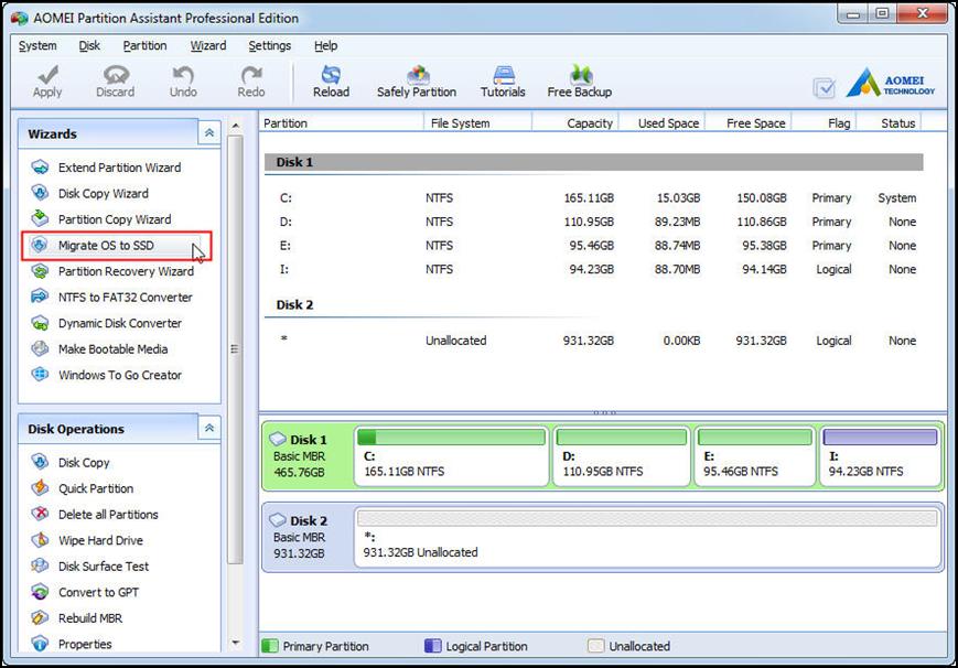 Download AOMEI Partition Assistant
